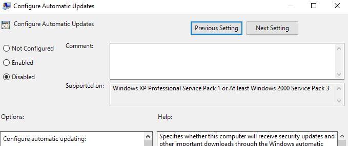 configure automatic updates2