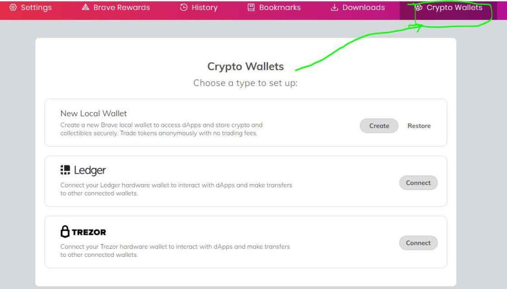 brave crypto wallet